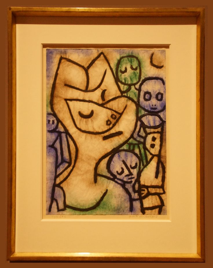 Paul Klee (1879-1940) Gebärde eines Antlitzes/Mimica di uno sguardo/ Expression d'un visage/Expression of a face/ 1939, 1176, oil colors and glue on paper and cardboard Kunsthaus Zürich, Grafische Sammlung