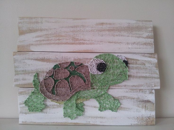 how to make a turtle out of craft lace