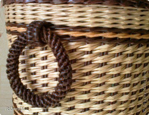 Поделка изделие Плетение Подарок сыну Бумага газетная Картон Трубочки бумажные фото 8