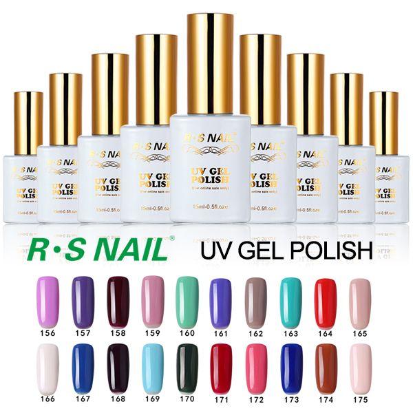 R.S 15ml soak off uv color gel nail polish set of nail gel lucky gel nail lacquers glue professional esmaltes permanentes de uv #Affiliate