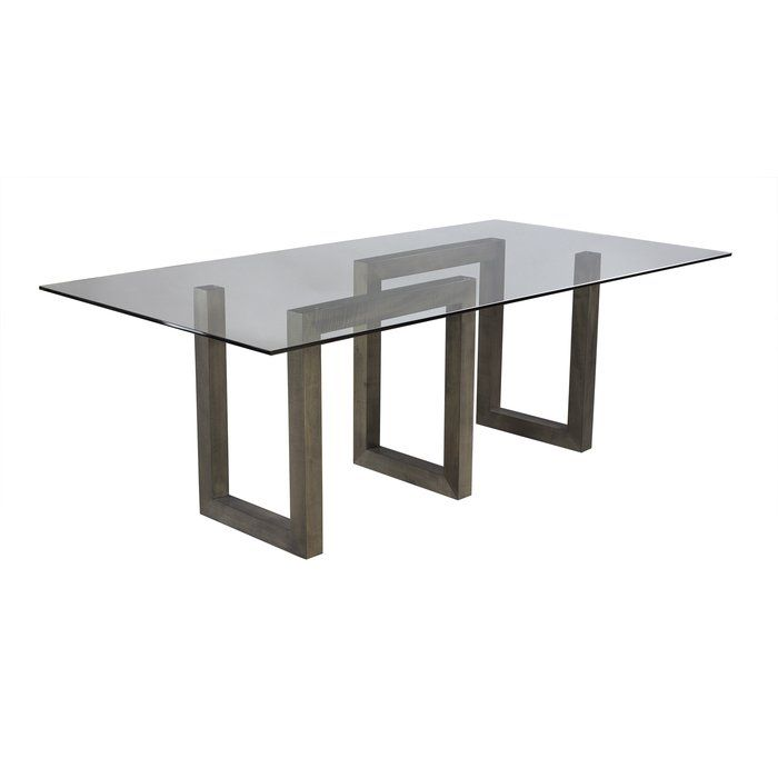 Reesa Glass Solid Wood Dining Table Solid Wood Dining Table