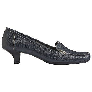 Aerosoles Magical Power Shoes (Navy Leather) - Women's Shoes - 12.0 M