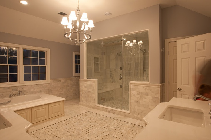 Hampton Carrara Marble Bathroom Done By A Customer Near The Tile Shop In Commack Ny Your