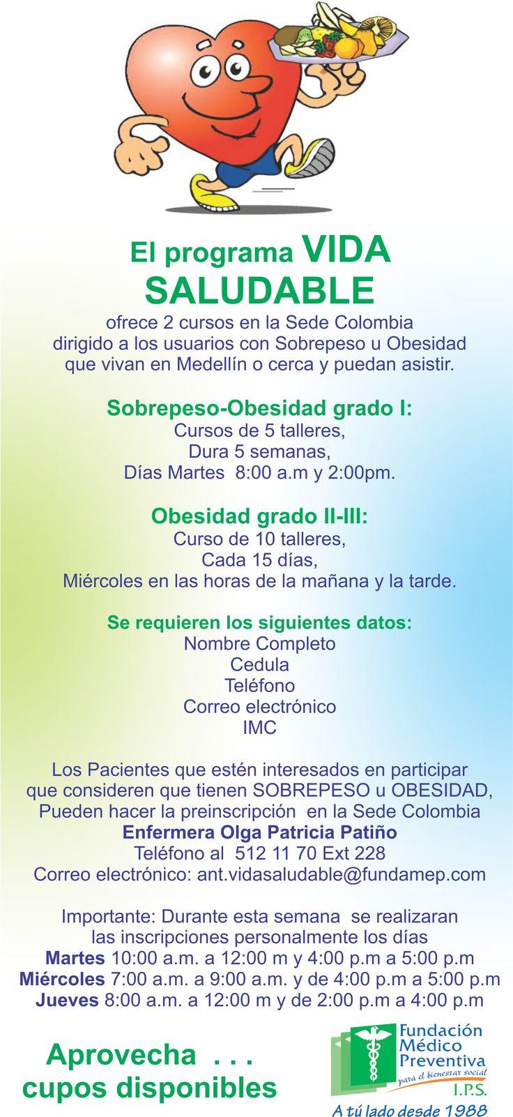 Invitación Programa Vida Saludable