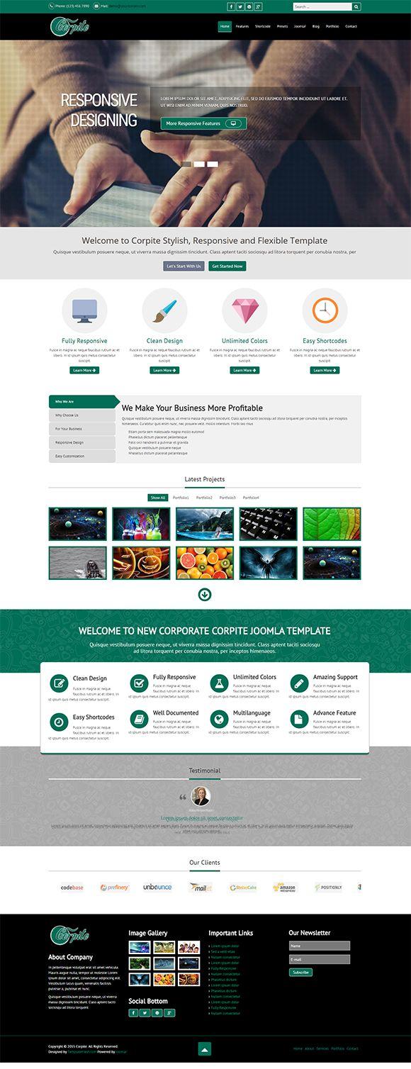 Corpite Multipurpose Joomla Template by PCMShaper on @creativemarket
