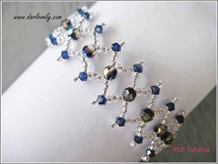 Metallic Blue Netted Bracelet