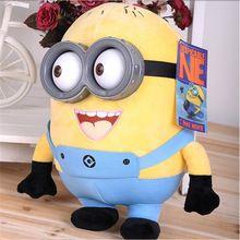 creatieve 18cm despicable me minion pluche gele kunststof oog bonecos 3d poppen speelgoed voor kinderen gift(China (Mainland))