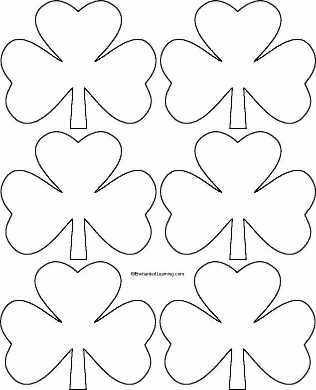 Shamrock Coloring Pages Printable Inspirational Six Shamrocks