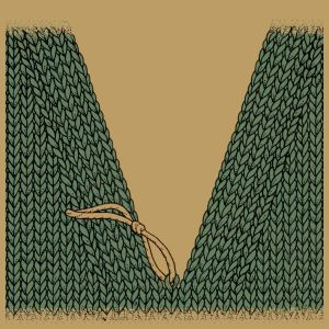 V-Ausschnitte stricken mit Hilfe einer Mittelmasche, mit gleicher Maschenzahl au…
