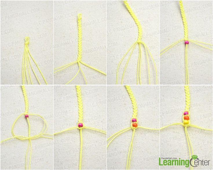 Braccialetti di amicizia con perline Istruzioni - Come fare un braccialetto intrecciato con perline di legno - Pandahall.com