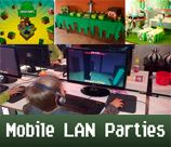 Minecraft LAN Parties is a one of a kind mobile lan birthday party provider. Kids play their favourite computer games with their friends. Minecraft, Call of Duty and Blur is just a few on the list. Parties are held in the convenience of your own home. Get ready for the easiest and most enjoyable party you've ever had. We provide it all! 	email for more info view more details