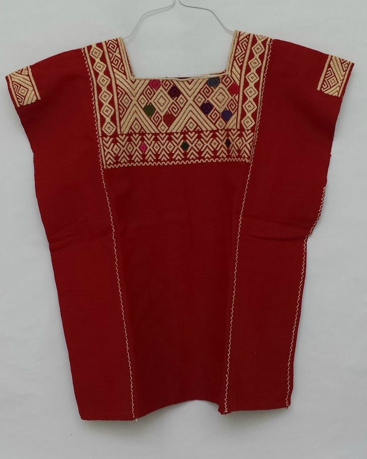 Blusas hechas con telar de cintura hecha a mano por ind genas chiapanecas blusas hechas a - Flores de telas hechas a mano ...