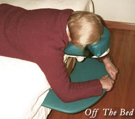 Vitrectomy Face Support System - Facedown after vitrectomy surgery.