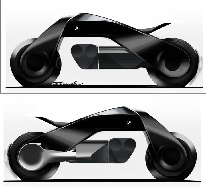 BMW Motorrad Vision Next 100 Concept Design Sketch Render http://www.carbodydesign.com/set/71004/bmw-motorrad-vision-next-100-concept-design-gallery/