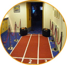 Entrance for the wedding? Olympics theme