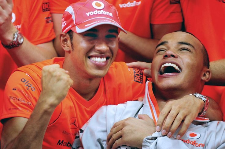 Lewis Hamilton and his brother