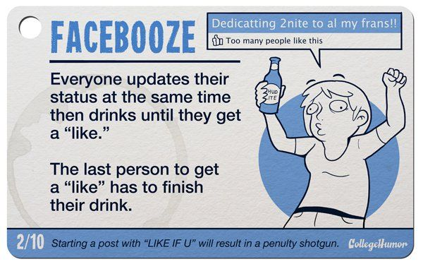 10 Internet Drinking Games