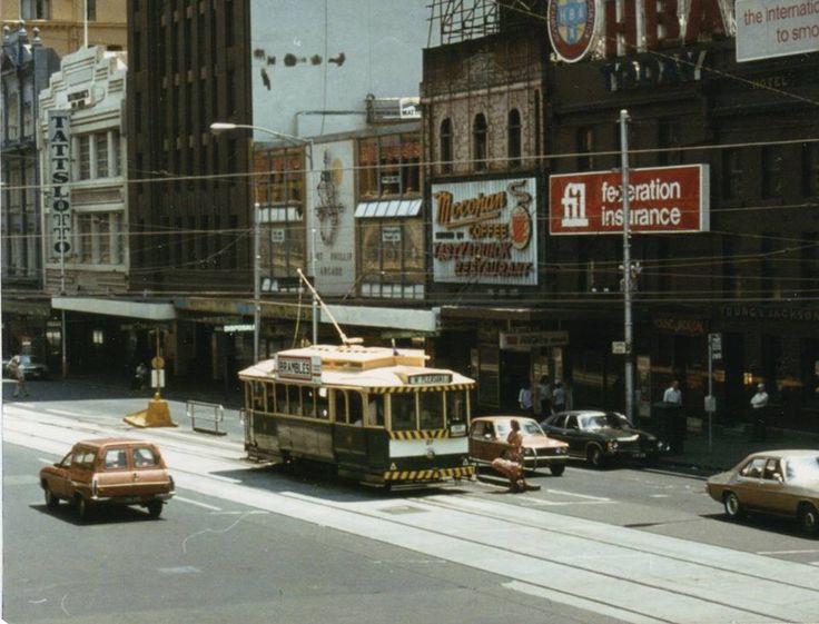Flinders Street outside Young & Jacksons on Australia Day 1981, Ballarat No 27.