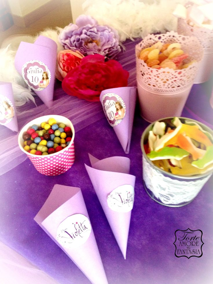 Candy Bar Violetta Party