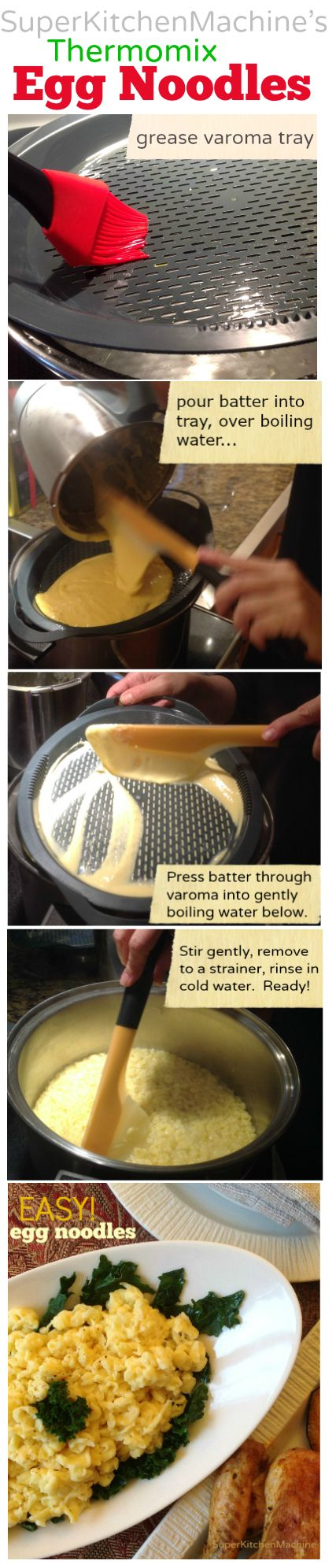 Super Kitchen Kits — Spatula tips for making healthy, easy Thermomix egg noodles recipe