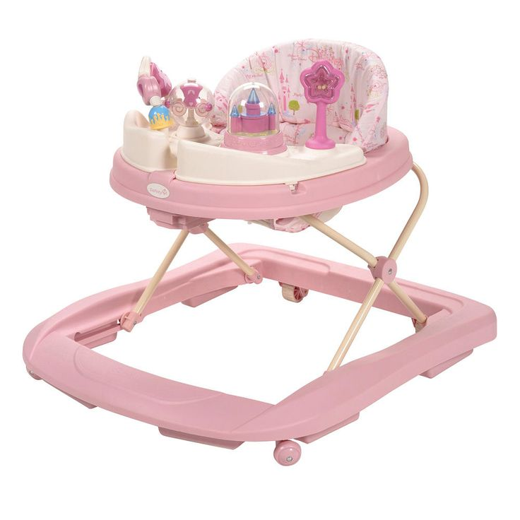 The Disney Baby Music and Lights Walker features 4 colorful and entertaining princess themed toys that offer hours of fun for your little one. The two removable, swing-open activity trays open to reveal a full snack and toy area offering maximum play value without compromising on tray space. It folds easily for storage or travel and is lightweight for easy mobility. It is fully padded to keep baby safe and has a machine washable padded seat for easy cleaning. The 2-position height…