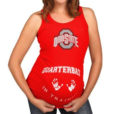 Ohio State Buckeyes Maternity QB in Training Tank Top - Scarlet