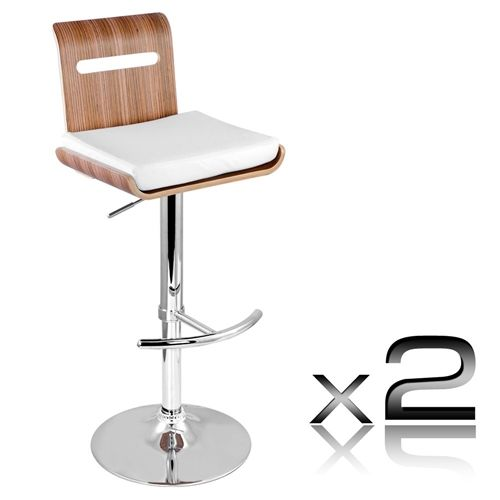 niomi natural wooden bar stool set of 2