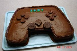 Play station cake. I think I can do this :-)