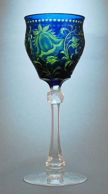 Stevens & Williams Hock Glass: Finely engraved glass / http://www.karaffensammler.at/gallery/main.php?g2_itemId=10655