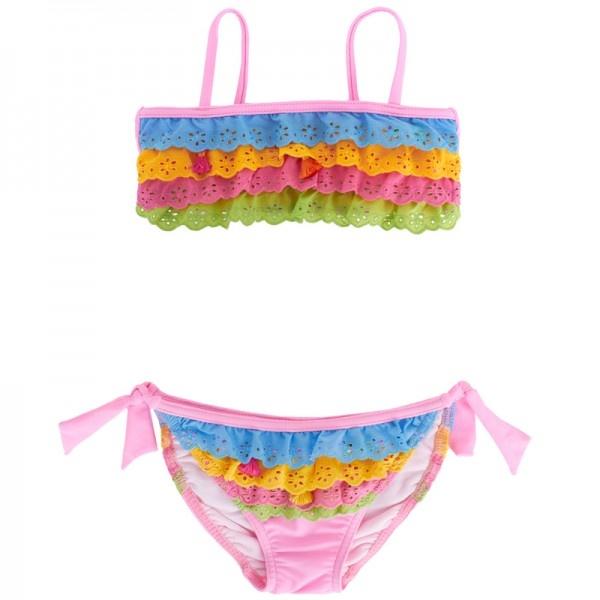 Pate de Sable Multi-Colour Bandeau Bikini at alexandalexa.com - Cutest Girls Bikini @Melissa Kelly