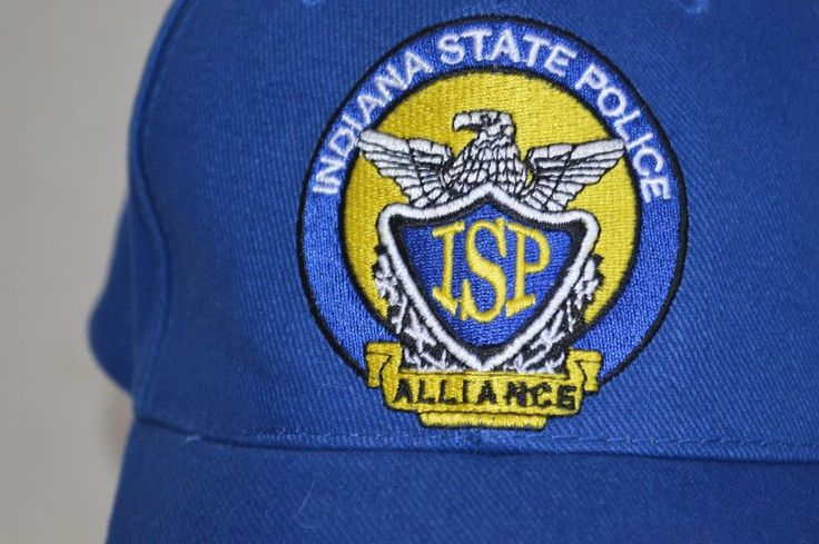 Indiana State Police Alliance Baseball Hat Blue Adjustable Back Seba Sportswear #Seba #BaseballCap