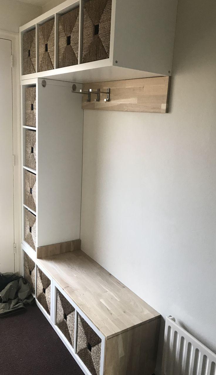 Ikea kallax gang kast / kapstok #Garderobe #Flur #Diy #Eingangsbereich #ikea –