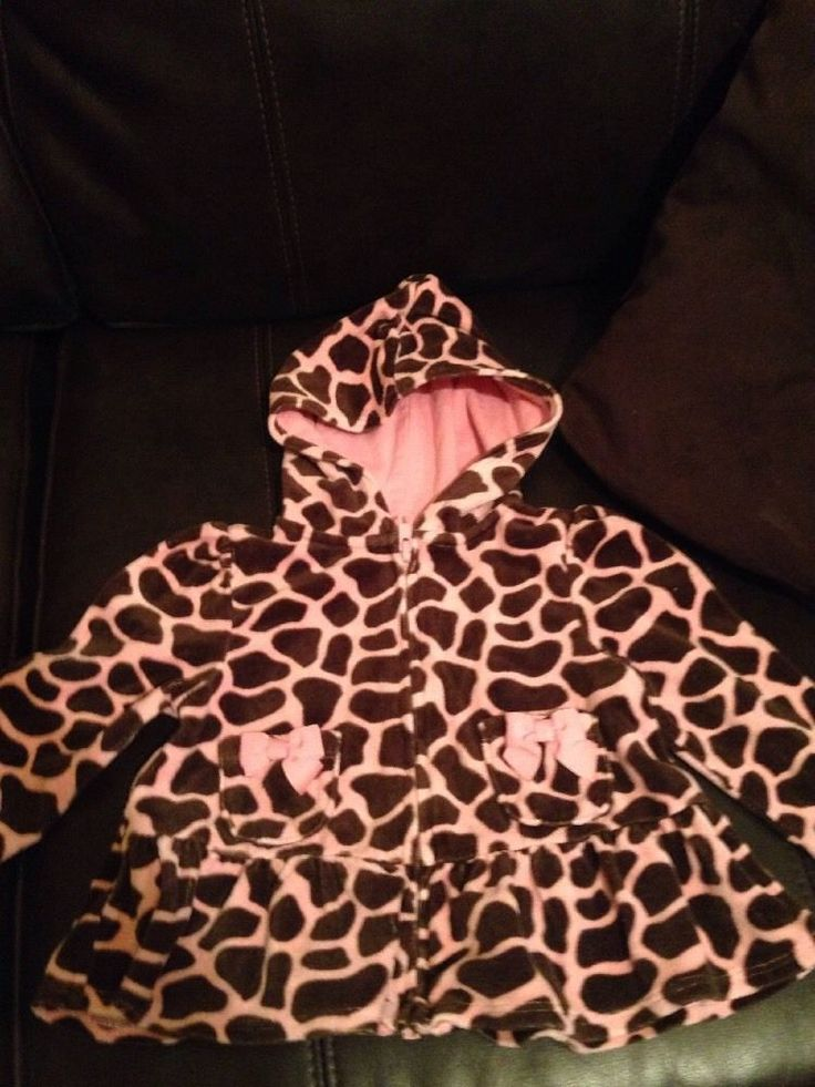 Girls Gymboree Giraffe print hoodie size 18-24mo. #Gymboree
