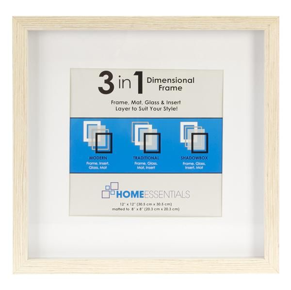 3 In 1 Home Essentials Picture Frame 12 X 12 A C Moore Frame Picture Frames Shadow Box