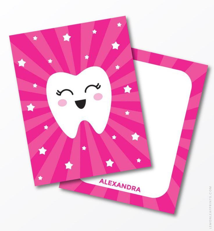 Kawaii Tooth On Pink Sunburst Background