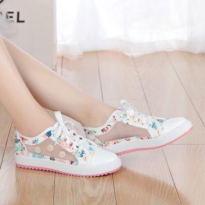 Летняя Кружевные женщина девушка плоские туфли, чтобы помочь низким дышащая сетка обувь, повседневная обувь, холст обувь для старшеклассников