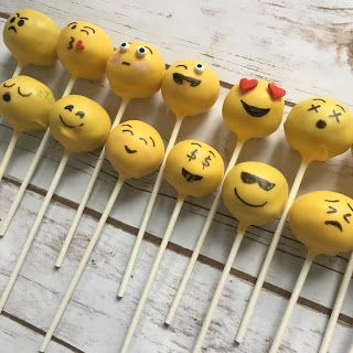 Country Cupboard Cakes: Emoji Cake and Cake Pops