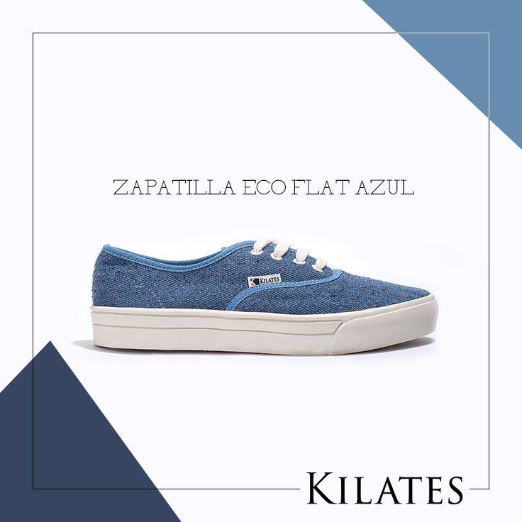Zapatilla Eco Flat Azul