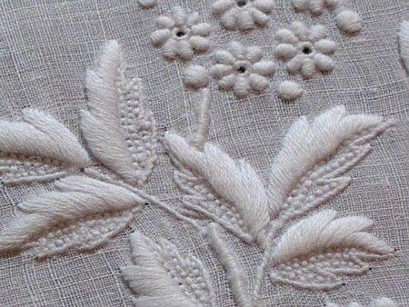 Ems Heart Antique Linens -Antique Linen Monogrammed Italian Embroidered Hanky