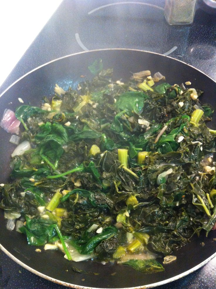Sauteed Kale and Spinach--Possibly The Tastiest Side Dish EVER.