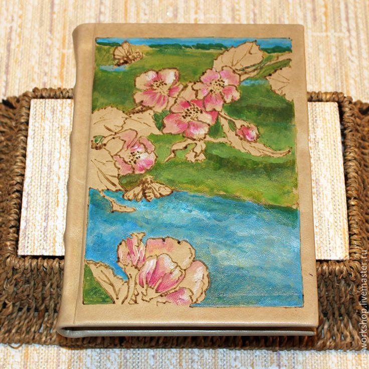 Купить Ежедневник из натуральной кожи Весна - комбинированный, ежедневник, ежедневник ручной работы, блокнот