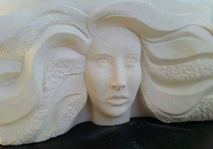 Aaleya - Oamaru stone by Jo Pervan