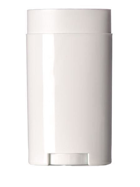 2.5 oz white PP oval-shaped deodorant container with dial : Deodorant Containers