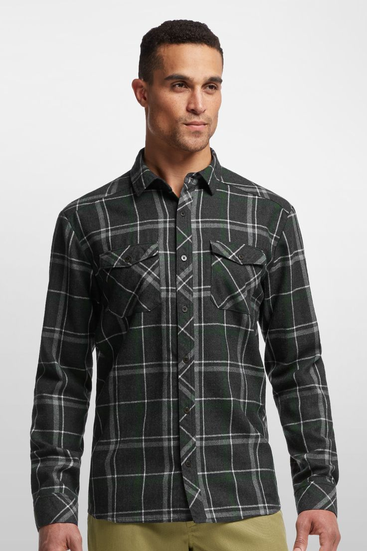 Lodge Long Sleeve Flannel Shirt - Icebreaker (CA)