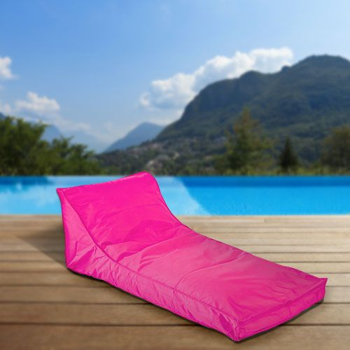 How to add color to your pool deck with bean bag loungers