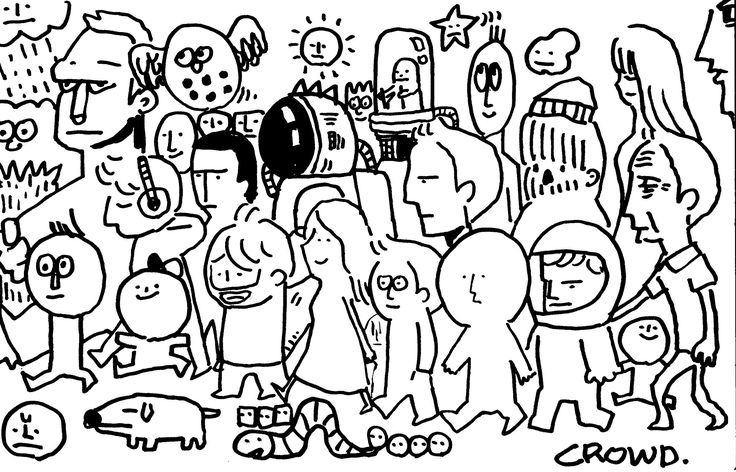 [Happy Drawing] 1 Page Doodle #2. Crowd
