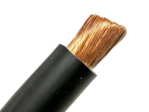 Cheap 2 AWG HEAVY DUTY Extra Flexible Welding Lead Car Audio Battery Cable 600 VOLT - Made in the USA (150 FT Black) deals week