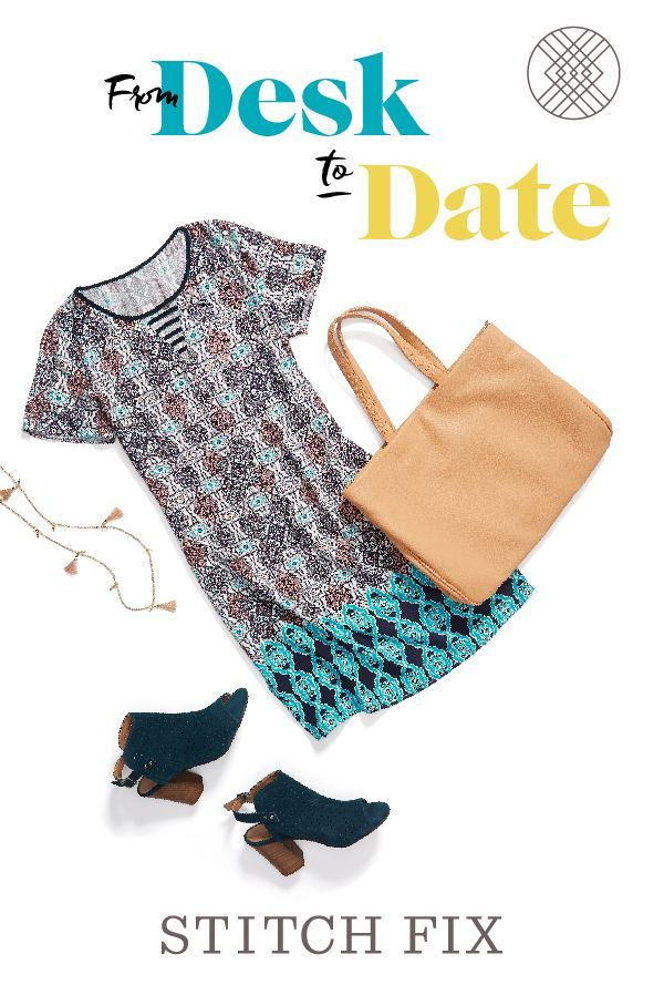 Shake up the 9-5 with a summery boho shift dress (in a work-appropriate length) and peep-toe booties. #StylistTip: Balance a trendy print with neutral accessories. Sign up for Stitch Fix and get personalized looks for your body, budget and social calendar—sent right to your door!