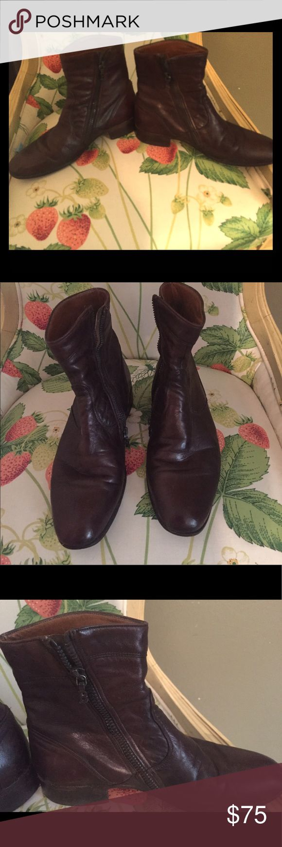 Vintage Bally Brown Low Cut Boots Vintage Bally Low Cut Dark Brown Boots. Say a 5.5 men but fit 7.5 women. The ankle is fairly small and fitted. They are Great Vintage Condition. Please see photos and ask before purchasing...:) Bally Shoes Ankle Boots & Booties