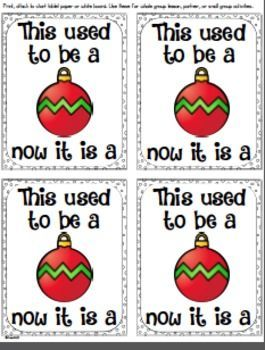 CHRISTMAS CREATIVE THINKING WRITING - BRAIN TRAINER - Set this up as a check in station when students arrive or use it with whole group or cooperative group lessons. $